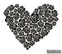 Акриловый штамп SV010 Сердце, размер 5,9 * 5 см