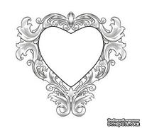 Акриловый штамп SV013 Сердце, размер 4,5*4,2 см