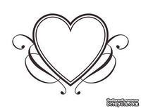 Акриловый штамп SV014 Сердце, размер 4,2 * 2,9 см