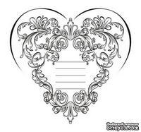 Акриловый штамп SV015 Сердце, размер 6,1 * 5,8 см
