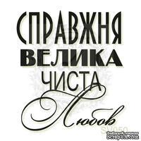 Акриловый штамп Lesia Zgharda Справжня Велика Чиста Любов SV050, размер 3,4х3,8 см