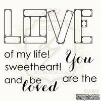 Набор акриловых штампов Lesia Zgharda SV063 LOVE OF MY LIFE, 6 штук