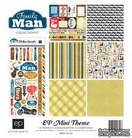 Набор бумаги для скрапбукинга от Echo Park - Family Man Mini Theme, 30х30 см