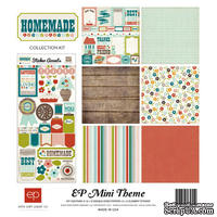 Набор двусторонней бумаги от Echo Park - Homemade Mini Theme, 6+1 лист,  30х30 см