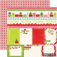 Лист двусторонней бумаги от Echo Park-Happy Holiday's Journaling
