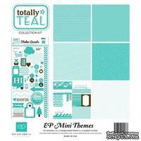 Мини-набор бумаги от Echo Park Totally Teal, Mini Theme, 6+1 листов, 30х30 см, SW3405