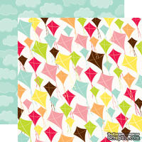 Лист двусторонней бумаги от Echo Park - Picnic Kites Paper, 30x30 см