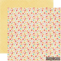 Лист двусторонней бумаги от Echo Park Hearts, 30x30 см
