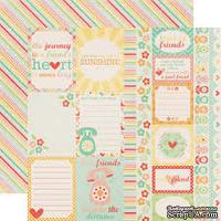 Лист двусторонней бумаги от Echo Park Journaling Cards, 30x30 см