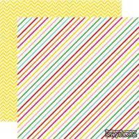 Лист скрапбумаги от Echo Park - Candy Stripe, 30х30 см