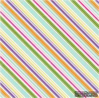 Лист скрапбумаги от Echo Park - Hippity Stripe, 30х30 см