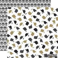 Лист скрапбумаги от Echo Park - Cap & Gown, 30х30 см