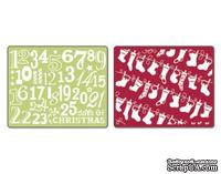 Папка для тиснения от Sizzix Textured Impressions Embossing Folders 2PK - Christmas Stockings Set