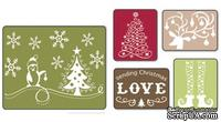 Папка для тиснения от Sizzix  - Textured Impressions Embossing Folders 5PK - Sending Christmas Love Set