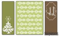 Папка для тиснения от Sizzix Textured Impressions Embossing Folders 3PK - Season's Greetings Set