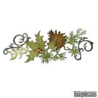 Лезвие от Sizzix -Sizzlits Decorative Strip Die - Festive Greenery-Праздничные украшения