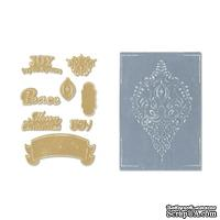 Ножи и папки от Sizzix - Framelits Die Set 8PK w/Textured Impressions - Ornament Set