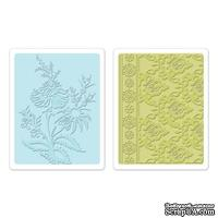 Набор папок для тиснения от Sizzix - Textured Impressions Embossing Folders 2PK - Beatnik Bouquet Set 657809