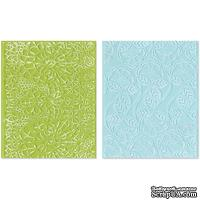 Папки для тиснения Sizzix - Textured Impressions Embossing Folders - Bohemian Lace Set, 2 шт.