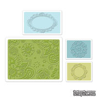 Набор папок для тиснения Sizzix - Textured Impressions Embossing Folders - Free Fall Florals Set, 4 шт.