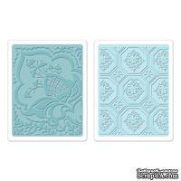 Набор папок для тиснения Sizzix - Textured Impressions Embossing Folders 2PK - Free Spirit Florals Set, 2 шт.