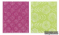 Набор папок для тиснения Sizzix - Textured Impressions Embossing Folders - Psychedelic Dreams Set, 2 шт.