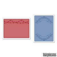 Папки для тиснения Sizzix Textured Impressions Embossing Folders 2PK - Mini Banners Set, 2шт.