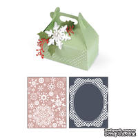 Нож от Sizzix + папки для тиснения - Bigz XL Die w/Bonus Textured Impressions - Carry All Box and Let it Snow Set