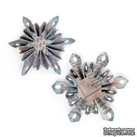 Лезвия Sizzix - Sizzlits Decorative Strip Die - Mini Snowflake Rosettes, 2 шт.