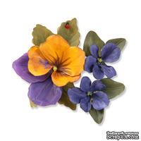 Ножи от  Sizzix - Susans Garden - Framelits Dies - Flower Pansy / Violet