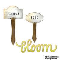 Ножи от Sizzix - Sizzix Bigz Die - Phrase, Bloom & Plant Markers