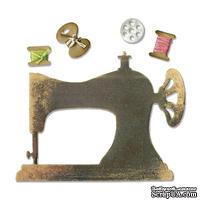 Ножи от Sizzix - Sizzix Sizzlits Die - Sewing Machine & Bobbins