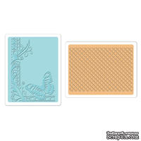 Набор папок для тиснения от Sizzix - Sizzix Textured Impressions Embossing Folders 2PK - Butterfly Lattice Set