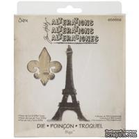 Лезвия Sizzix Bigz Die - Fleur de Lis & Eiffel Tower, 2 шт.