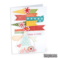 Лезвия и штампы - Sizzix Framelits Die Set w/Stamps - Banners №2, 8 шт.