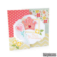 Лезвия и штампы Sizzix - Framelits Die Set w/Stamps - Princess, 8 шт.