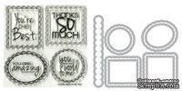Лезвия  и штампы от Sizzix - Framelits Die Set - Word Labels, 9 шт.
