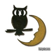 Лезвие от Sizzix - Movers & Shapers Magnetic Die Set 2PK - Mini Owl & Crescent Moon