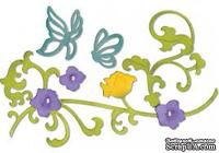 Лезвия Sizzix - Thinlits Die Set - Butterflies & Flower Vine, 6 шт.