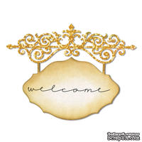 Лезвие Sizzix - Thinlits Die - Ornate Hanging Sign