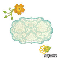 Лезвия Sizzix - Thinlits Die Set 6PK - Fancy Label & Flowers, 6 шт.