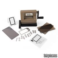 ПОД ЗАКАЗ! Машинка для вырубки и тиснения Sizzix Sidekick Starter Kit Brown & Black, стартовый набор
