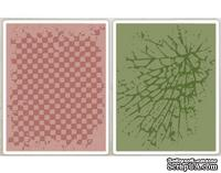 Папки для тиснения от Sizzix - Tim Holtz Alterations - Texture Fades Embossing Folders - Checkerboard Cracked Set