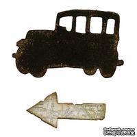 Магнитное лезвие от Sizzix - Mini Old Jalopy and Arrow Set, 2 шт