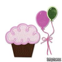 Набор лезвий с штампиками от Sizzix - Balloons & Cupcakes, 7 шт.