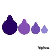 Лезвия от Sizzix - Framelits Die Set 4PK - Ornaments, Round, 4 шт.