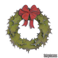 Лезвие от Sizzix - Bigz Die - Holiday Wreath