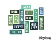 Лезвие от Sizzix - Tim Holtz - Thinlits Die Set 16 Pack - Friendship Words - Block