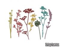 Ножи от Tim Holtz Alterations - Thinlits - Wildflowers Die Set 7 Pack, Полевые цветы, 7 штук