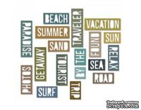 Ножи от Tim Holtz Alterations - Thinlits - Vacation Words - Block, 18 шт